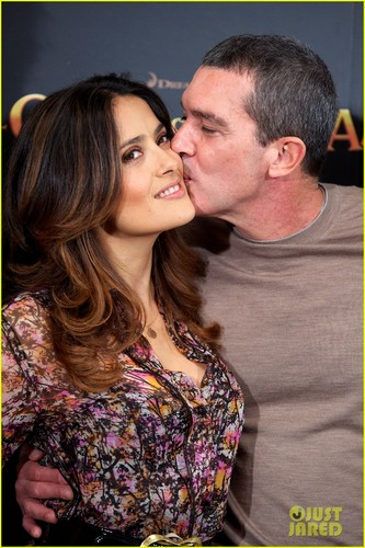 Salma Hayek: 'Puss in Boots' Hits Spain!