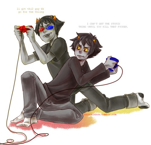 Sollux and Karkat - homestuck-fans Fan Art
