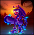 Sonic Riders~ Sonic at dawn