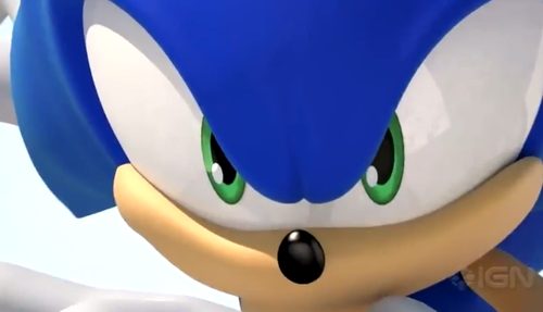 Sonic is looking at toi