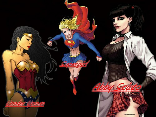 Abby Sciuto wallpaper titled Supergirl, Abby Sciuto & Wonder Women