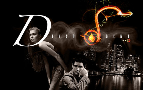 Divergent wallpaper entitled Tris and Four