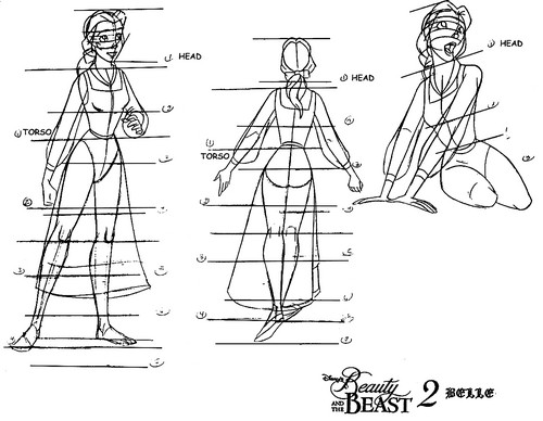 Walt 디즈니 Model Sheets - Princess Belle