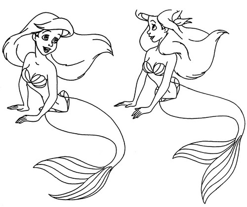 Walt Дисней Model Sheets - Princess Ariel
