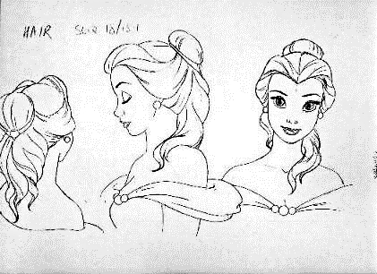 Walt disney Sketches - Princess Belle