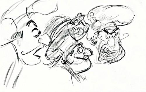 Walt Disney Sketches - Chef Louis