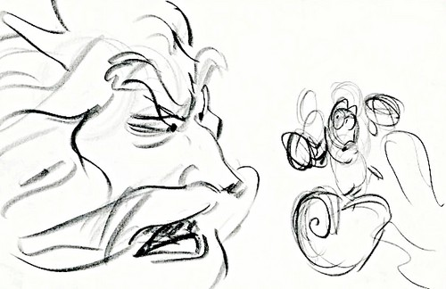 Walt Disney Sketches - King Triton & Sebastian