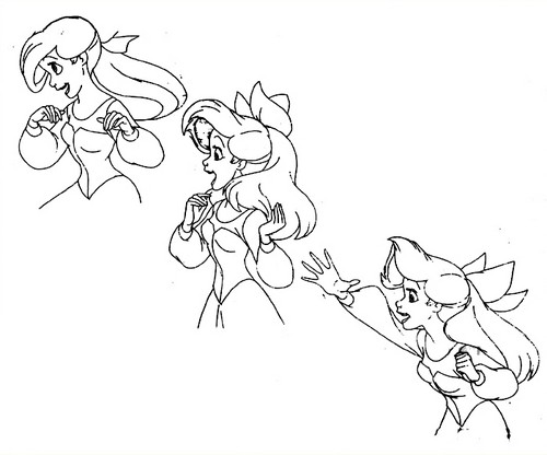 Walt 迪士尼 Sketches - Princess Ariel