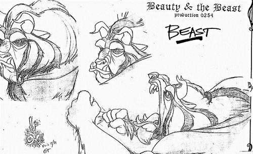 Walt Disney Sketches - The Beast