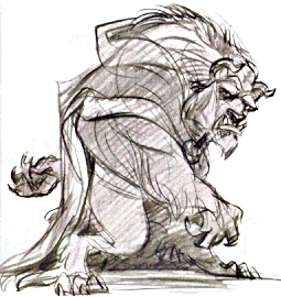 Walt ডিজনি Sketches - The Beast
