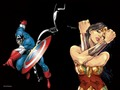 dc-comics - Wonder Woman, Batman and Captain America wallpaper