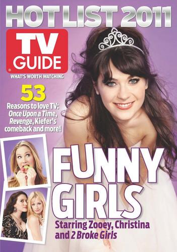 Zooey in TV Guide,Nov. 2011
