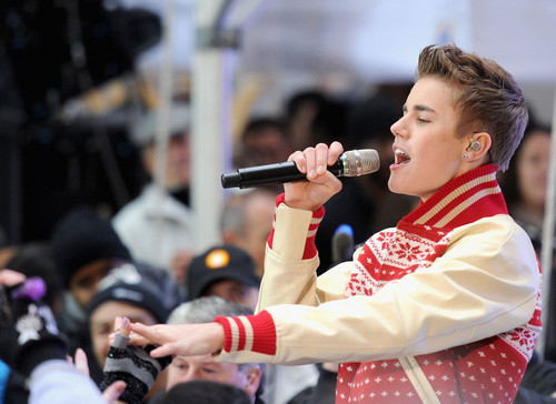 justin bieber today show.