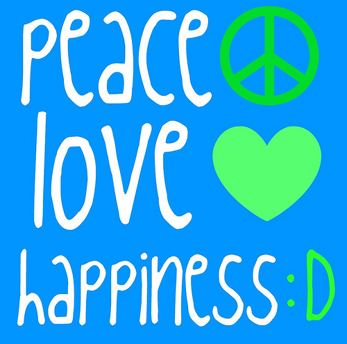 peace cinta and happiness