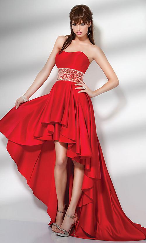 Impressive Red High Low Prom Dress 500 x 833 · 92 kB · jpeg