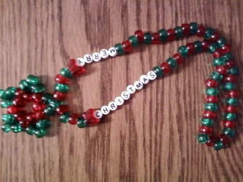 Merry natal estrela colar
