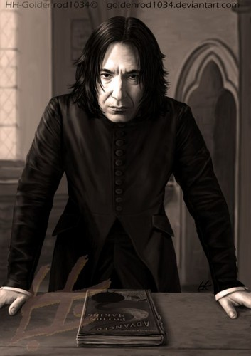 Severus Snape Hintergrund containing a business suit and a well dressed person titled Advanced Potions...