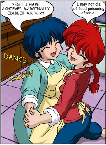 Akane & Ranma-Chan _victory dance