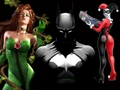 Batman, Poison Ivy and Harley Quinn - batman wallpaper
