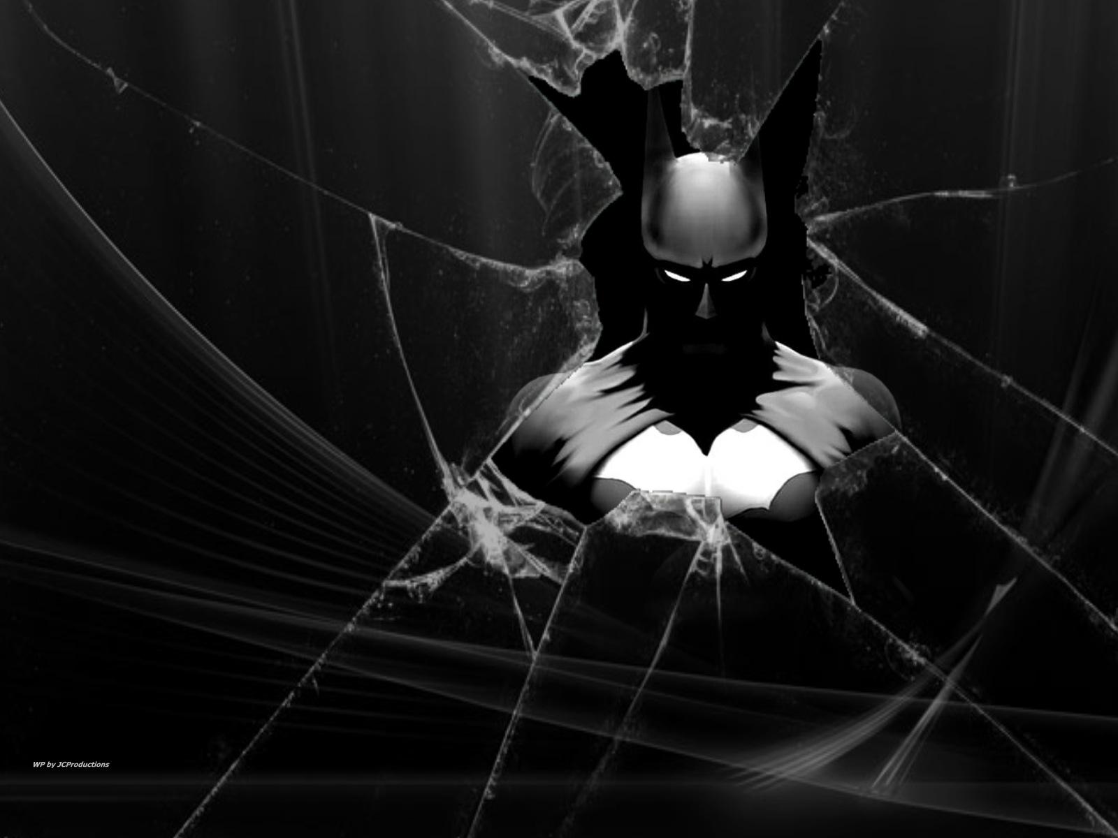 バットマンと割れたガラスの壁紙