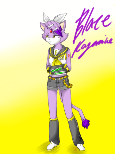 Blaze the Cat wallpaper probably containing anime called Blaze Kagamine