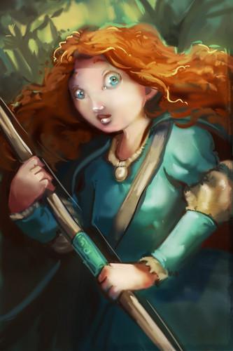 메리다와 마법의 숲 팬 Art
