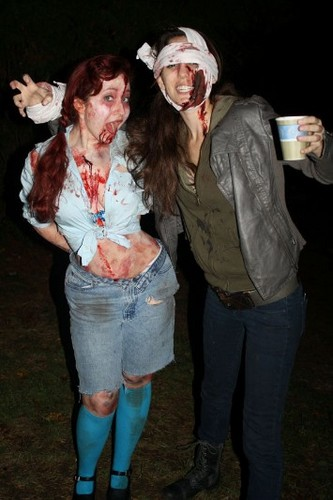 "Christy Carlson Romano ""behind the scenes of Infected"""