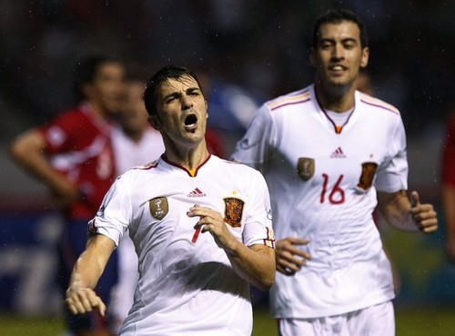 Spain National Football Team wallpaper possibly with a wicket, a bowler, and a fielder entitled Costa Rica (2) v Spain (2) - International Friendly