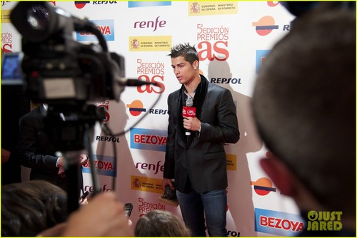 Cristiano Ronaldo attends the 2011 AS Awards held at the Palace Hotel (November 28) in Madrid
