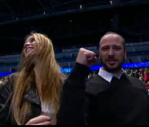 Ester Satorova wild celebrations of Berdych victory over Ferrer