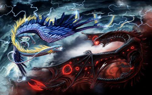 Dragons wallpaper probably containing anime entitled Fantasy Dragon