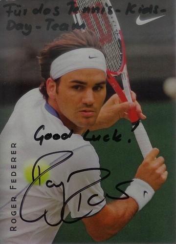 Federer autograph