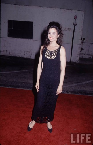 Fran Drescher Hintergrund probably with a playsuit, tights, and a cocktail dress titled Fran