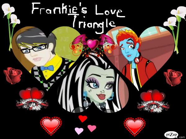 Triángulo de Amor Frankie - monstruos de fotografías de alta