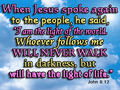 JOHN 8:12 - the-bible photo