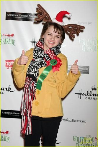 Joey King arrives at the 2011 Hollywood Natale Parade (November 27) in Hollywood
