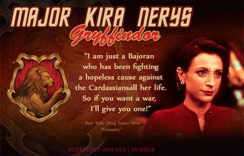 nyota Trek: Deep Space Nine karatasi la kupamba ukuta probably containing anime entitled Kira Nerys - Gryffindor