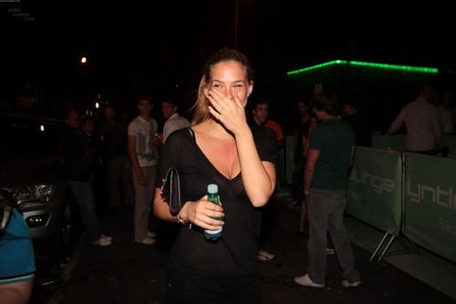 Leaving a nightclub in Brazil