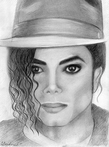 Michael Jackson wallpaper containing a snap brim hat, a fedora, and a campaign hat entitled Michael Jackson Drawing
