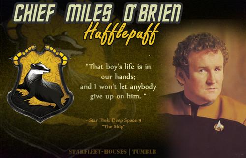 nyota Trek: Deep Space Nine karatasi la kupamba ukuta with anime entitled Miles Edward O'Brien - Hufflepuff