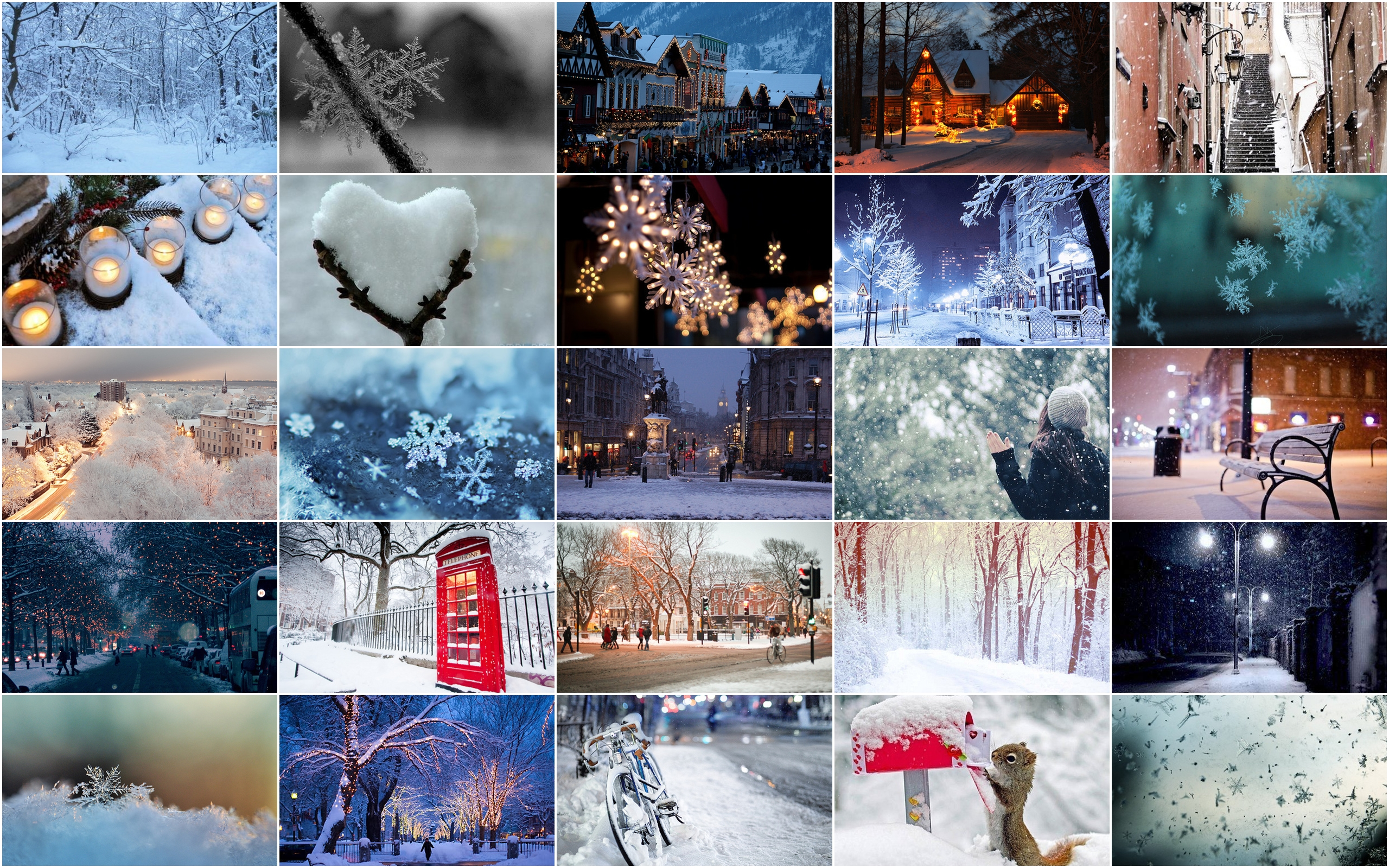 The gallery for -- Winter Collage Facebook Covers