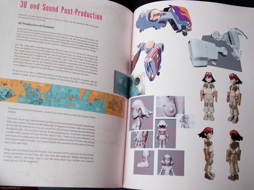 Page from The Art of Oban Star-Racers