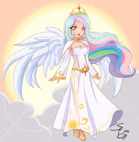 Princess Celestia as a human