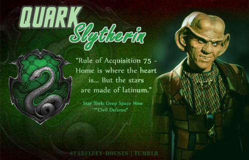 bintang Trek: Deep luar angkasa Nine wallpaper possibly with a concert, a sign, and anime entitled Quark - Slytherin