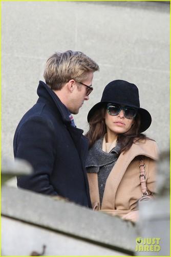 Ryan 小鹅, gosling, 高斯林 & Eva Mendes: Parisian Pair