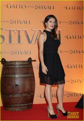 Salma Hayek: 'Puss in Boots' Rome Premiere!