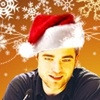 Robert Pattinson photo possibly containing a portrait titled Santa Rob