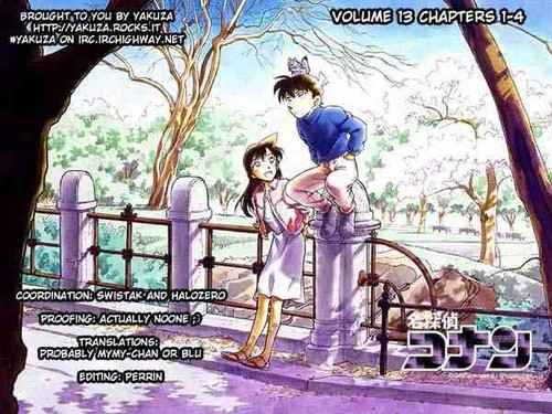 Shinichi Kudo and Ran Mouri Hintergrund probably containing Anime entitled Shinichi Kudo and Ran Mouri