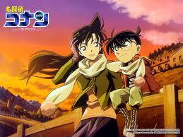 Shinichi Kudo and Ran Mouri wallpaper containing anime entitled Shinichi Kudo and Ran Mouri