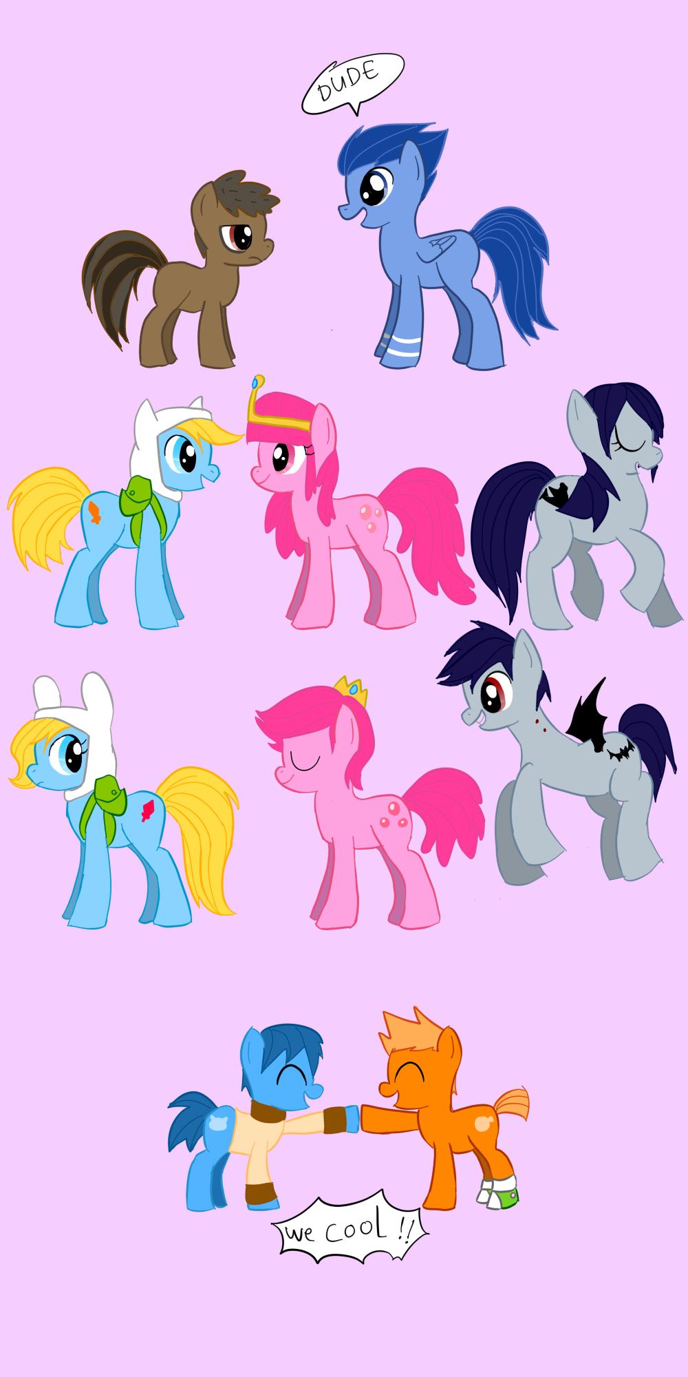 Some Mehr pony crossovers